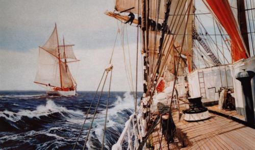 22. Course en mer d'Irlande.