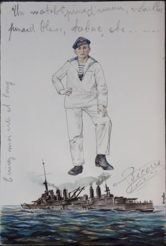 03. Bicou, rescapé du naufrage du Danton, 1917.