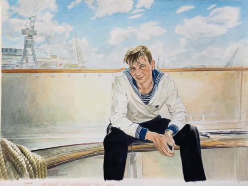11. Mikhail, à bord du Sedov.