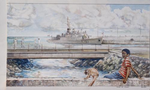01. L'aviso Cdt Blaison en escale aux Comores.