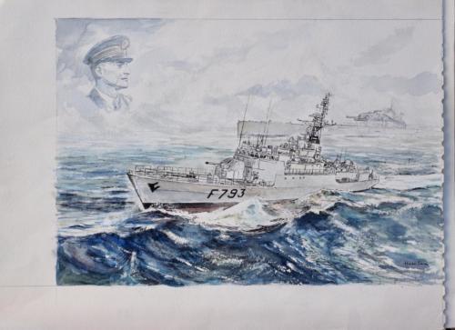02. Cdt Blaison, sous-marin Surcouf, aviso Cdt Blaison.
