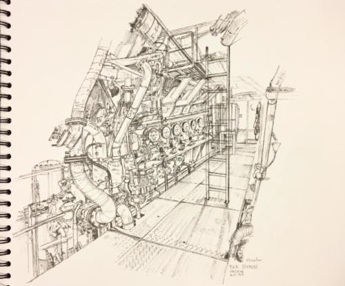 17. Dixmude, machine.