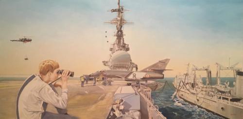25. Foch, ravitaillement à la mer.